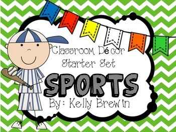 [EDITABLE] {SPORTS} Class Decor & Starter Set