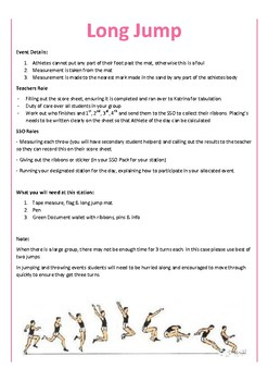 SPORTS DAY ATHLETICS INFORMATION FOR STAFF AND STUDENTS