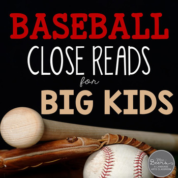 SPORTS Bundle: Informational Text Close Reads for BIG KIDS