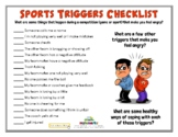 COMPETITION TRIGGERS (Sportsmanship) (Fillable)