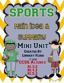 SPORTS {Main Idea and Summary Mini Unit}