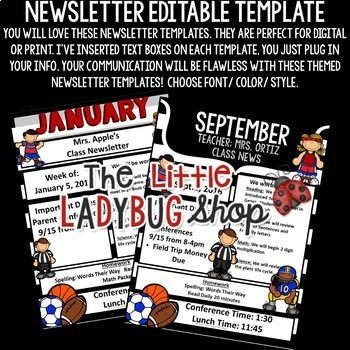 Editable Newsletter Templates [Sports Theme Newsletter Template Editable]