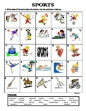SPORTS - PICTIONARY (MATCH PICTURES WITH WORDS)