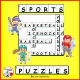 SPORTS WORDS PUZZLES ... CROSSWORDS PLUS  Vocabulary  Gr 4-5-6