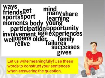SPORTS Quotes Writing Practice: RACE Strategy W 7.1