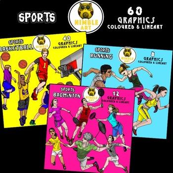 Running Clipart (Sports)