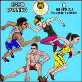 Running Clipart (Sports)