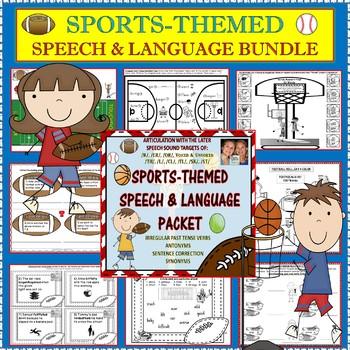 Speech Therapy: SPORTS-THEMED SPEECH, LANGUAGE & ARTICULATION BUNDLE