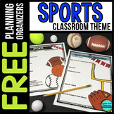 SPORTS Theme Decor Planner by Clutter Free Classroom