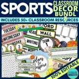 SPORTS THEME Classroom Decor EDITABLE