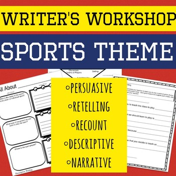 Writer's Workshop Worksheets Sports Theme!