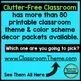 SPORTS THEME Classroom Decor - 3 EDITABLE Clutter-Free Classroom Decor BUNDLE