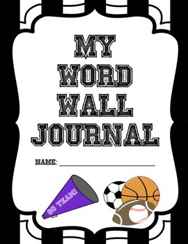 SPORTS Word Wall Journal cover page