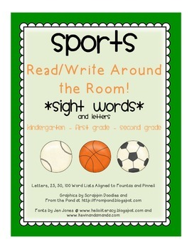 *SPORTS* Write/Read Around the Room (Sight Words/Letters)