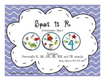SPOT IT GAME BUNDLE!  Articulation game for S & Z, R, SH, TH, and CH