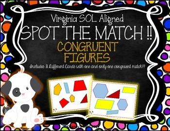 SPOT THE MATCH Game Congruent Noncongruent Virginia SOL