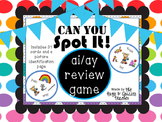 SPOT IT!  Game for ai and ay word practice