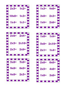SPOT IT multiplication game (x1 x2 and x3)