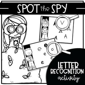 SPOT THE SPY {Activity for Letter Recognition Fluency}