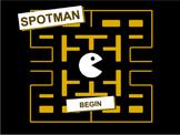 SPOTMAN (pacman type quiz)