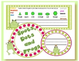 SPOTS, DOTS & FROGS DESK PLATES & NAME TAGS