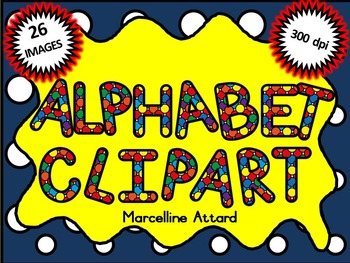 SPOTTY ALPHABET CLIPART LETTERS CLIP ART