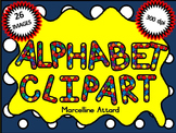 SPOTTY ALPHABET CLIPART: UPPERCASE LETTERS CLIPART: RAINBO