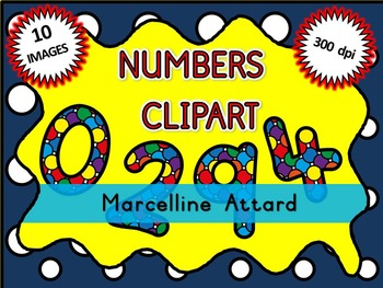 SPOTTY NUMBERS CLIPART: BACK TO SCHOOL CLIPART: MATH CLIPART