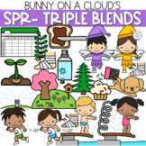 SPR- Three Letter Blends Clipart by Bunny On A Cloud