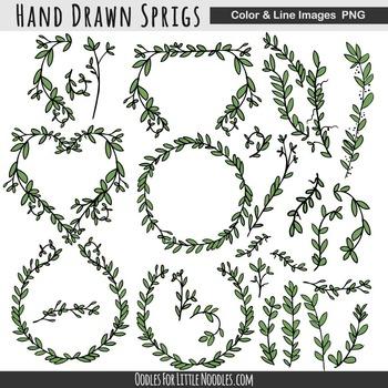 SPRIGS, TWIGS & BRANCHES **clip art**