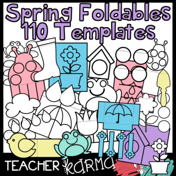 SPRING - 110 Foldables, Interactives, Flip Book Templates