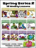 SPRING PRESCHOOL PRE-K KINDERGARTEN LESSONS CURRICULUM S2 BUNDLE