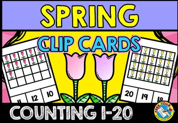 SPRING MATH CENTER: COUNTING TULIPS: NUMBERS 1-20
