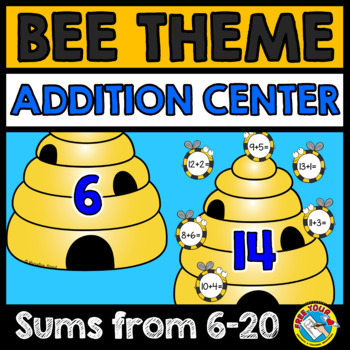 SPRING ACTIVITIES (BEE THEME ADDITION GAME) SPRING ADDITION CENTER