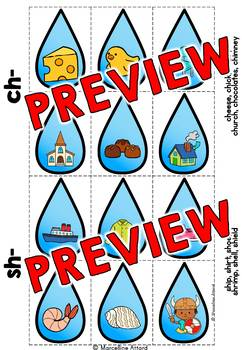 SPRING ACTIVITIES (DIGRAPHS SORTING GAME) CH, SH, TH, WH, PH, CK
