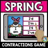 SPRING ACTIVITIES FIRST GRADE (CONTRACTIONS 2ND GRADE) GRAMMAR BOOM CARDS
