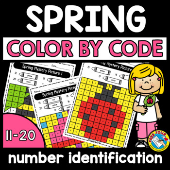 Spring Activity Kindergarten May Morning Work Color By Teen Number