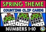 SPRING ACTIVITY PRESCHOOL TEN FRAMES CENTER CLIP CARDS FUN BEFORE SPRING BREAK