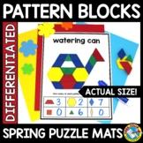 SPRING ACTIVITY 1ST GRADE (KINDERGARTEN PATTERN BLOCKS PUZ