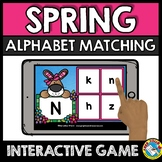 SPRING ACTIVITY FOR PREK (BOOM CARDS ELA) MAY LITERACY CENTER ALPHABET LETTERS