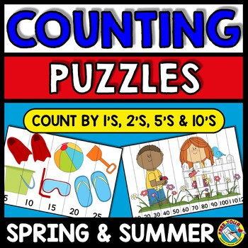 SPRING & SUMMER PUZZLES: DIFFERENTIATED COUNTING PUZZLES WITH NUMBERS UP TO 120