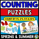 SUMMER AND SPRING ACTIVITY KINDERGARTEN, 1ST GRADE PUZZLES (NUMBERS TO 120 GAMES