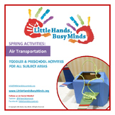 SPRING Activities: Air Transportation Weekly Thematic Unit for Toddlers & PreK