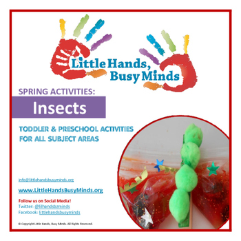 SPRING Activities: Insects Weekly Unit for Toddler & Preschoolers