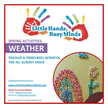 SPRING Activities: WEATHER Weekly Thematic Unit for Toddlers & Preschoolers