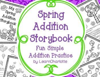SPRING Addition Storybook Activity