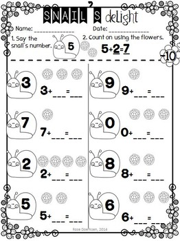 {SPRING} Addition Strategies - Print & Practice