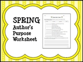 SPRING Author's Purpose Worksheet