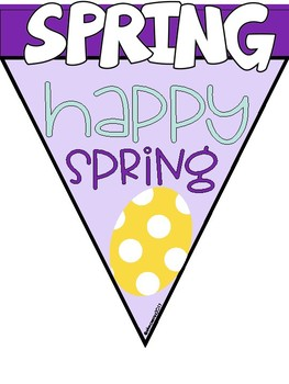 SPRING BANNER: Writing Activity