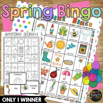 SPRING BINGO {25 Different Bingo Cards}